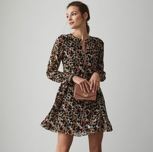 Martina Ditsy Print Flared Dress